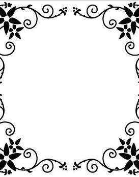 Nellie's 13x13 Square Flower Frame