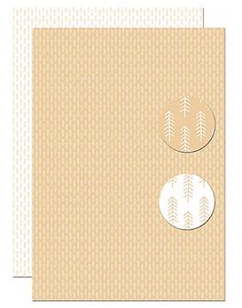 Nellie's papel con diseño A4 Pine Branches