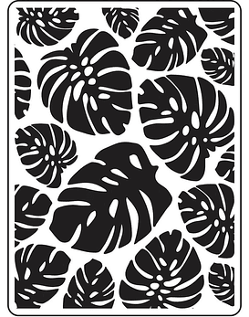 Darice Embossing Folder Tropical Leaf