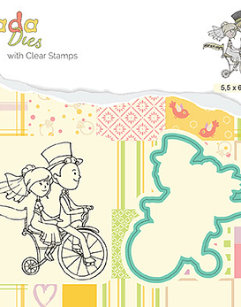 Stamp and Die Set Love on a bike