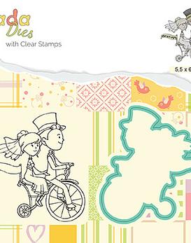Stamp and Die Set Love on a bike