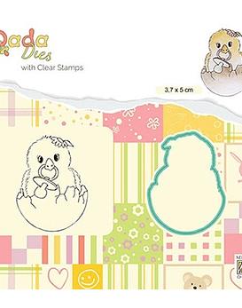 DADA Stamp and Die Set Hello World
