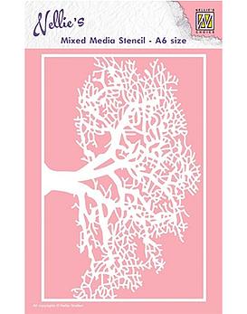 Stencil  A6 Tree