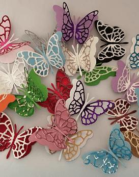 Set de 12 mariposas 3D