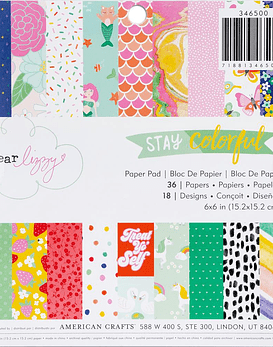 American Crafts Dear Lizzy Single-Sided Paper Pad 6