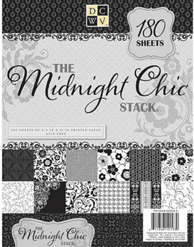 DCWV Midnight Chic Paper Stack