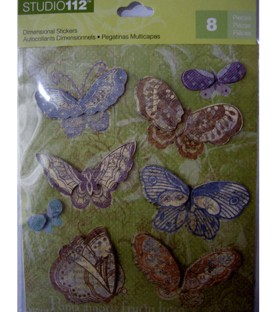 Studio112 Adhesivos dimensionales diseño mariposas