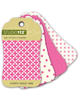 Studio 112 Pink Mini Tag Pad
