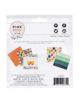 Pink Paislee 5x5cm Papeles pequeños