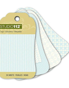 Studio 112 Blue Mini Tag Pad