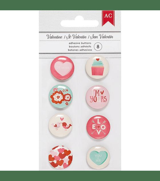 American Crafts botones adhesivos
