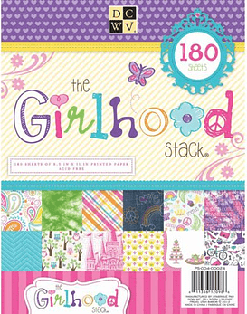 DCWV Girlhood Paper Stack