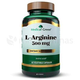 L-Arginine 500 mg 60 capsulas Medical Green