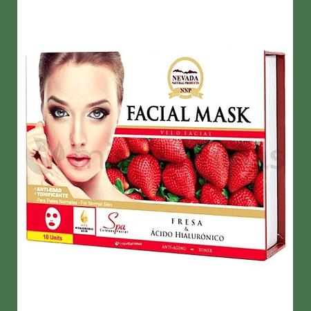 Mascarilla Facial Fresa Caja x 10 Nevada
