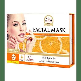 Mascarilla Facial Naranja Caja x 10 Nevada