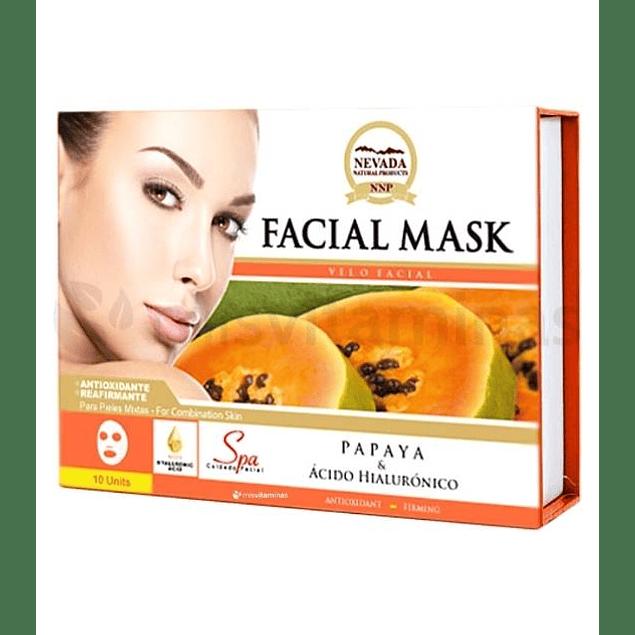 Mascarilla Facial Papaya Caja x 10 Nevada