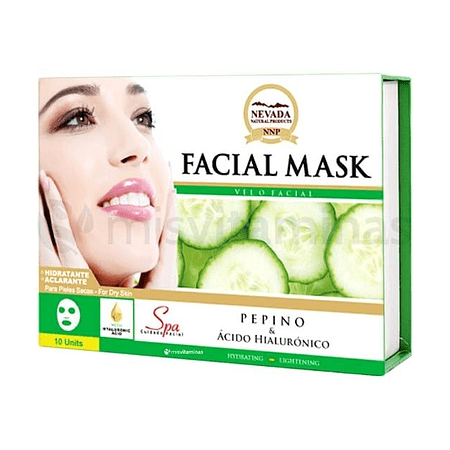 Mascarilla Facial Pepino Caja x 10 Nevada