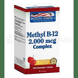 Methyl B-12 2000mcg Healthy America