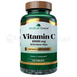 Vitamina C with Rose Hips 1000 mg Medical Green