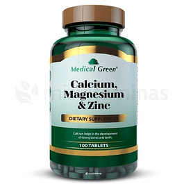 Calcium, Magnesium & Zinc Medical Green