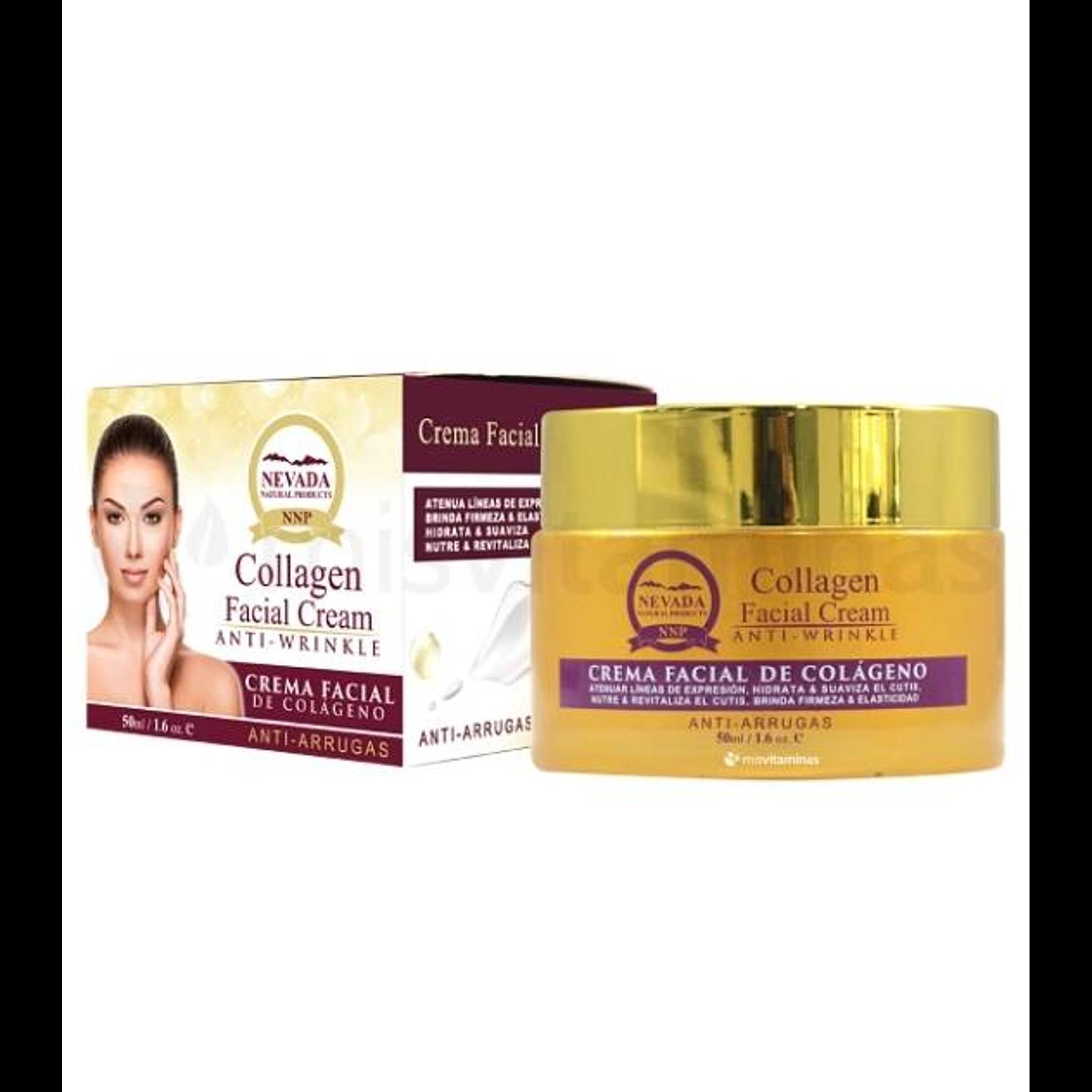 Crema Facial de Colágeno Anti Arrugas Nevada