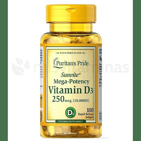 Vitamina D3 10000 IU Puritan's Pride
