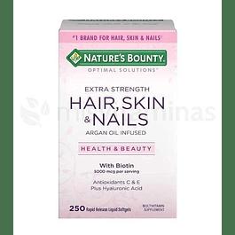 Hair Skin & Nails Natures Bounty argan Oil