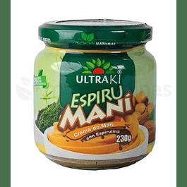 Espirumani Ultraki crema de mani con espirulina