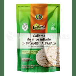 Galletas de arroz Inflado con Oregano y Albahaca Karavansay