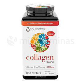 Collagen  Biotin Youtheory Skin Hair and Nails Formula Colageno