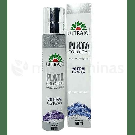 Plata Coloidal Spray 20 ppm Ultraki