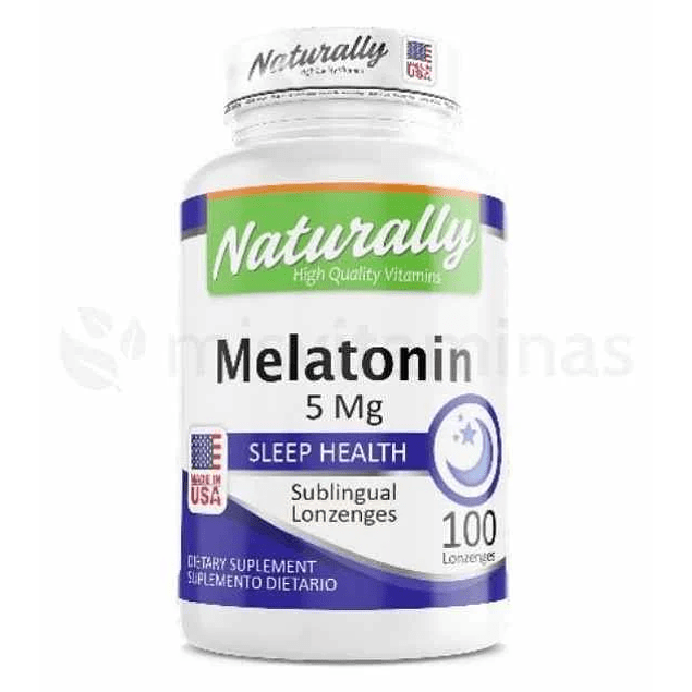 Melatonina Sublingual 5 mg Naturally