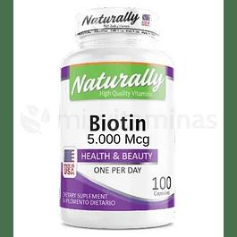 Biotina 5000 mcg Naturally