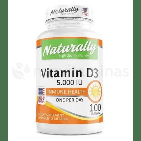 Vitamina D3 5000 IU Naturally