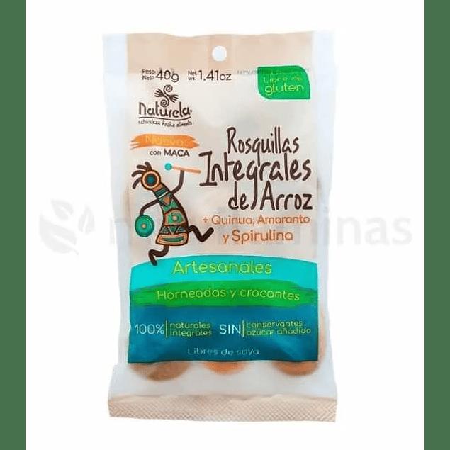Rosquillas integrales de arroz quinua amaranto y spirulina