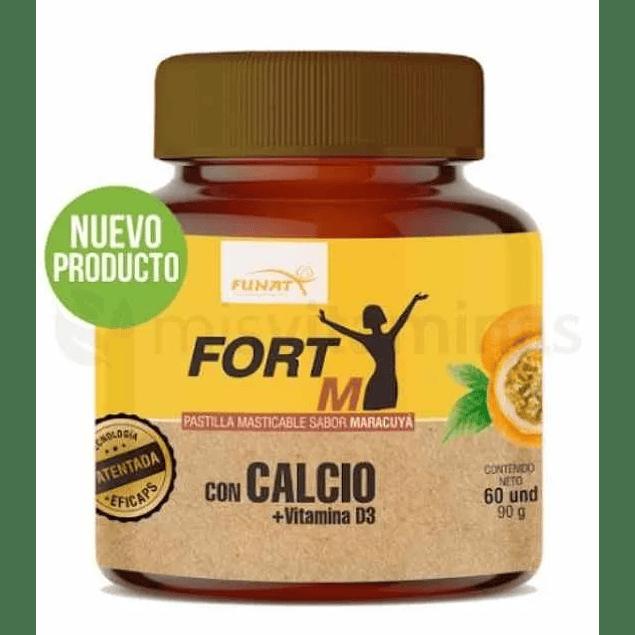 Fort M Calcio con Vitamina D3 Masticable Maracuya Funat