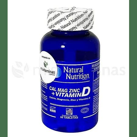 Calcio Magnesio y Zinc Natural Nutrition