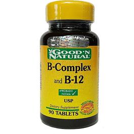 B-Complex and B-12 90 Tabletas Good´N Natural