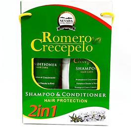 Romero Crece Pelo Shampoo 400 ml y Acondicionador 200 ml