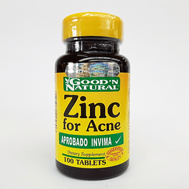 Zinc for Acne 100 Tabletas  Good´N Natural