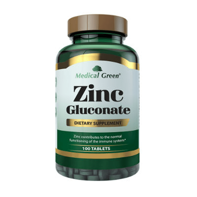 Zinc Gluconate 50 mg 100 Tabletas Medical Green