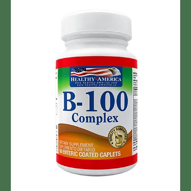 B-100 Complex  50 caplets  Healthy America