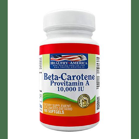 Beta-Carotene 25,000IU 100 softgels Healthy America