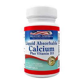 Calcium Liquid Absorbable & Vitamina D3 100 softgels