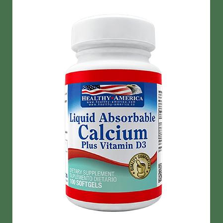 Calcium Liquid Absorbable & Vitamina D3 100 softgels