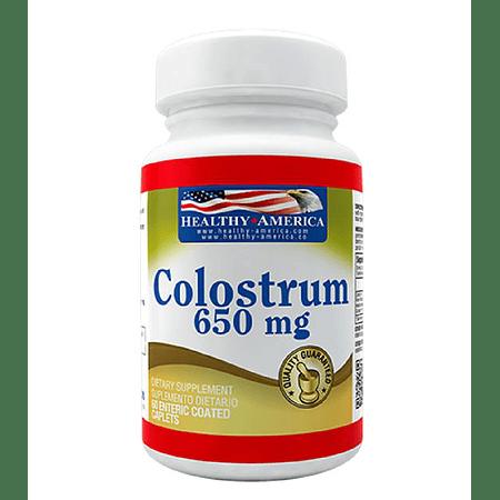 Colostrum 650 mg 60 tabletas Healthy America