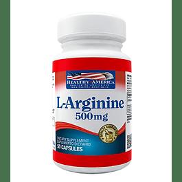 L-Arginine 500mg 50 capsulas Healthy America
