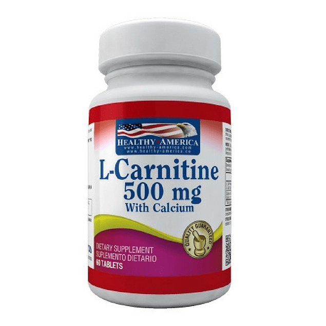 L-Carnitina 500 mg 60 caplets Healthy America