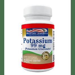 Potassium 99mg 100 caplets  Healthy America