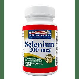 Selenium 200mcg 100 caplets Healthy America